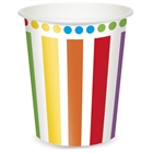 Rainbow Party 9 oz. Paper Cups (8)