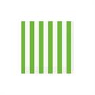 Lime Green Stripe Beverage Napkins (16)