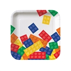 Building Block Party Square Dessert Plates (8)